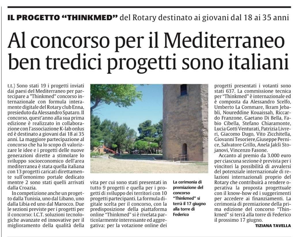 Al concorso per il Mediterraneo ben tredici progetti sono italiani